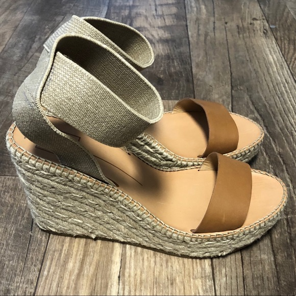 77a4872e7d6 Dolce Vita Pavlin Leather Espadrille Wedge Sandals